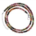 Tourmaline Gemstone 925 Sterling Silver Beads Necklace
