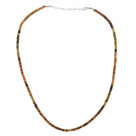 Petro Tourmaline Gemstone 925 Sterling Silver Beads Necklace
