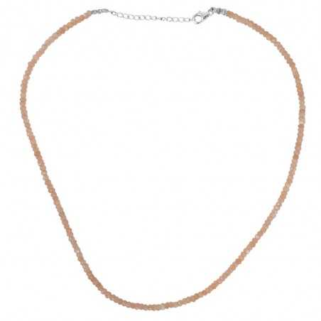 Moonstone Gemstone 925 Sterling Silver Beads Necklace