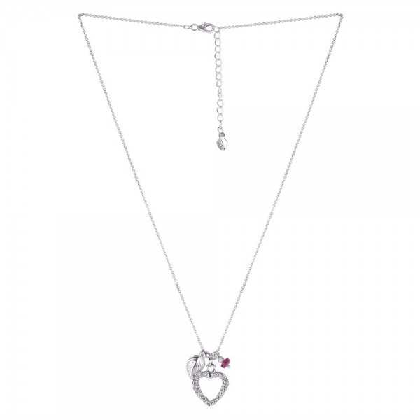 Tourmaline Gemstone With Love Heart 925 Sterling Silver Necklaces