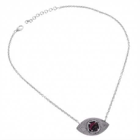 Tourmaline Gemstone 925 Sterling Silver Drop Necklace