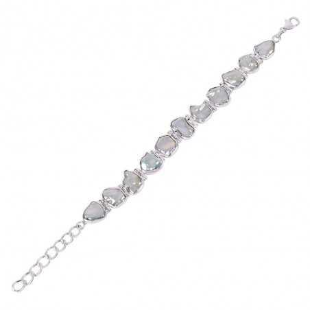 Natuarl Pearl Gemstone 925 Sterling Silver Bracelet