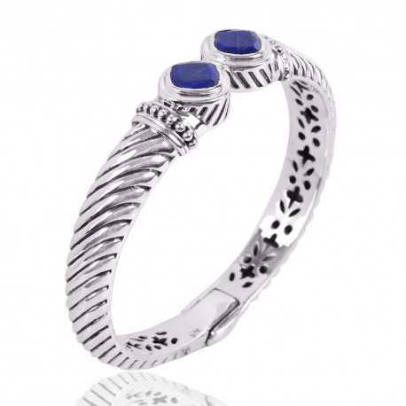 Lapis Gemstone 925 Sterling Silver Bracelet