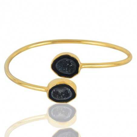 Tabasco Geode Gemstone 925 Sterling Silver Bracelet