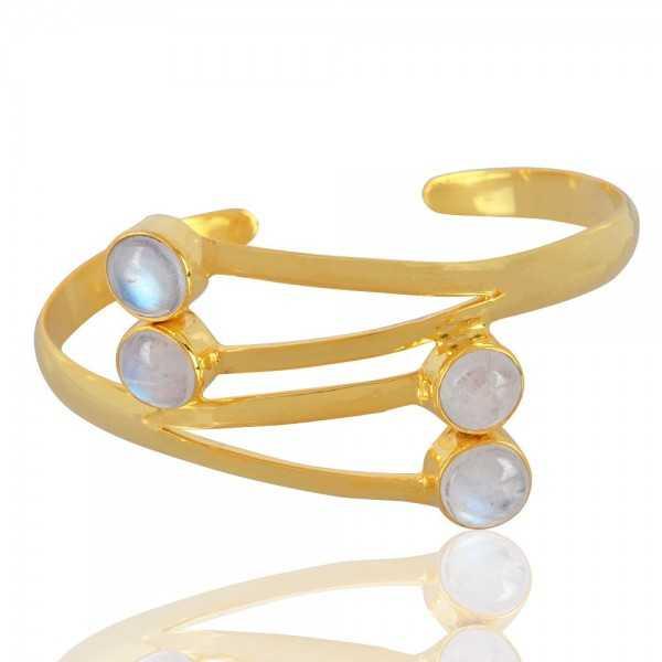 Rainbow Moonstone Gemstone 925 Sterling Silver Bracelet