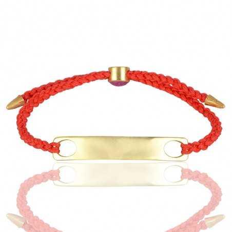 Gold Plated With Gemstone Brass Bracelet