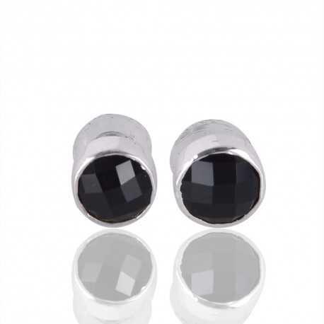 Black Onyx Gemstone 925 Sterling Silver Earring