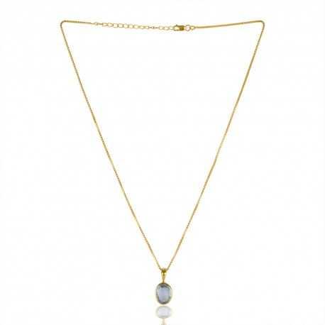 Sky Blue Topaz Gemstone 925 Sterling Silver Pendant