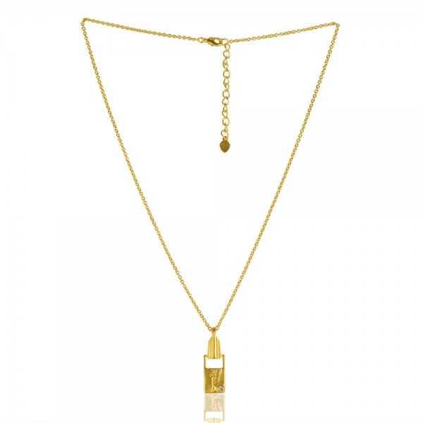 Crystal Gemstone Brass Pendant
