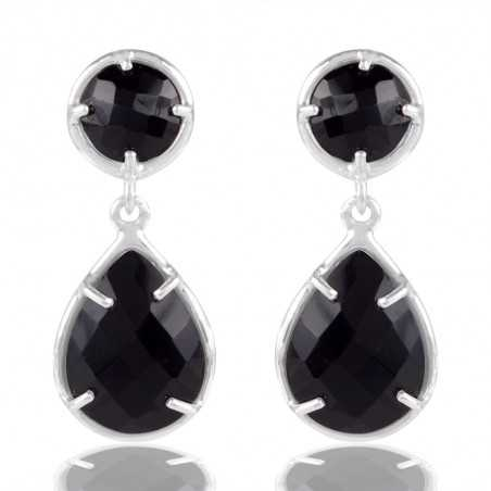 Black Stone 925 Sterling Silver Earring