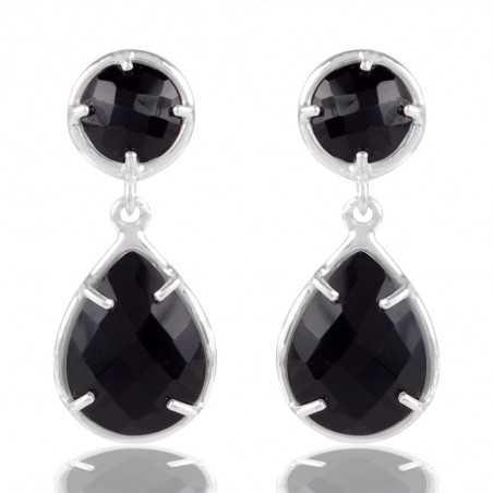 Black Stone 925 Sterling Silver Earring
