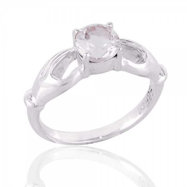 Crystal Gemstone 925 Sterling Silver Ring