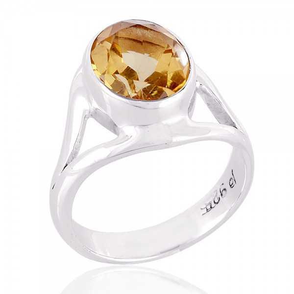 Citrine Gemstone 925 Sterling Silver Ring
