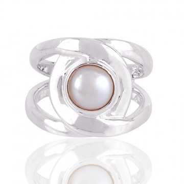 Fresh Water Pearl 925 Sterling Silver Ring