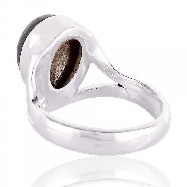 Labradorite natural Gemstone sterling silver Ring