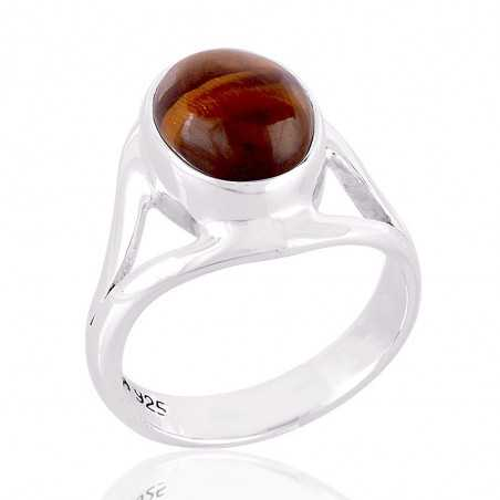 Tiger's Eye Gemstone 925 Sterling Silver Ring