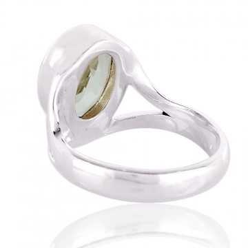 Persiolite natural Gemstone with 925 sterling silver Ring