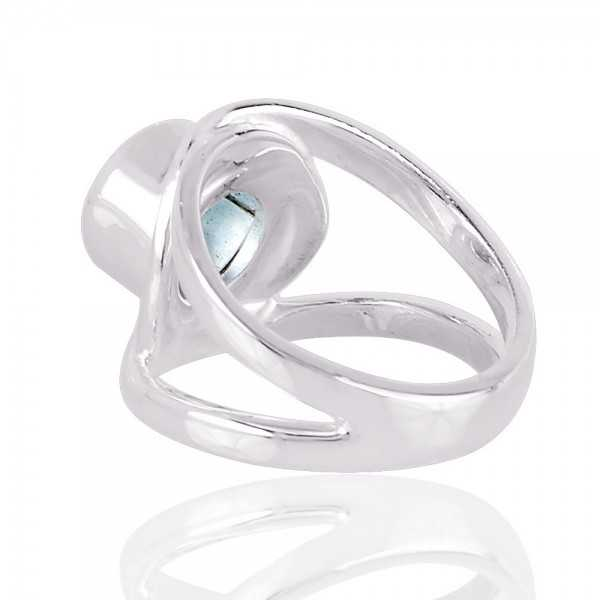 Natural Blue Topaz 925 silver Rings