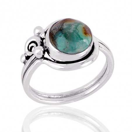 Turquoise Gemstone solid Silver Ring