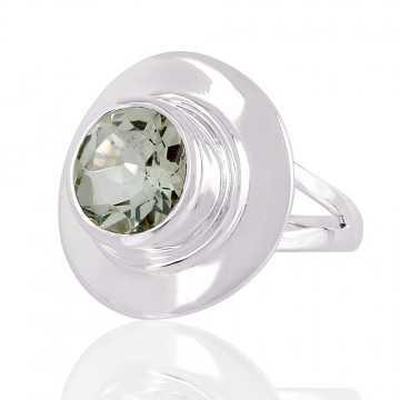Green Amethyst 925 Sterling Silver Ring