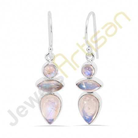 Moonstone Gemstone Handmade Sterling Silver Wholesale Earring Jewelry
