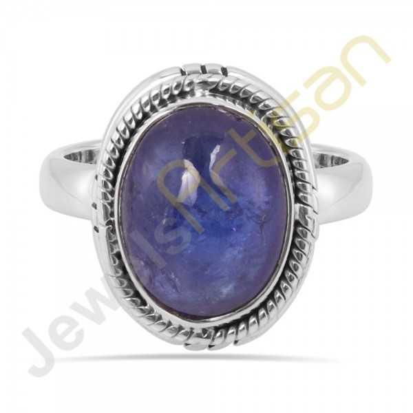 Tanzanite sterling silver ring