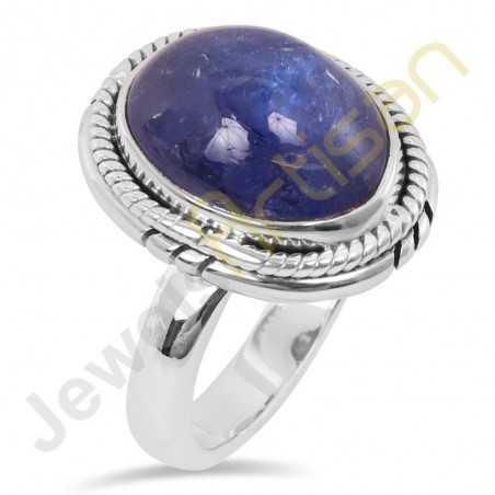 Natural Tanzanite Gemstone Sterling Silver Ring
