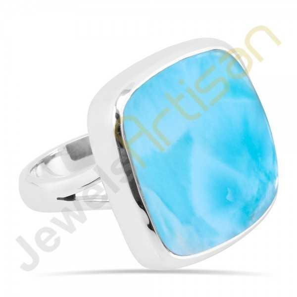 Larimar sterling silver ring