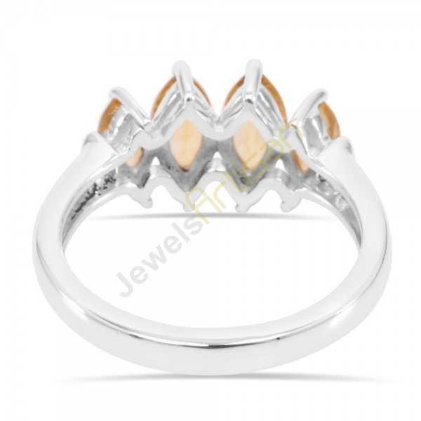 Citrine Gemstone Rings 925 Sterling Silver Ring