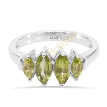 Peridot Gemstone Rings August birthstone 925 Sterling Silver Ring