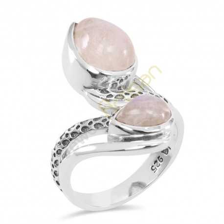 Rainbow Moonstone Gemstone Rings birthstone 925 Sterling Silver Ring