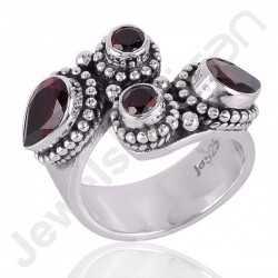 Garnet Ring 925 Sterling Silver Ring Designer Ring for Women