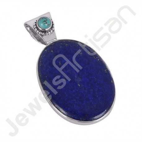 Turquoise Pendant Lapis Lazuli Pendant 925 Sterling Silver Pendant Locket Pendant