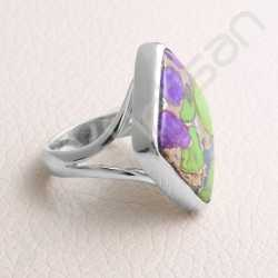 Turquoise Ring 925 Sterling Silver Ring Statement Silver Ring Handcrafted Silver Ring