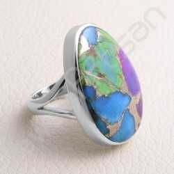Turquoise Ring 925 Sterling Silver Ring Handcrafted Silver Ring Statement Silver Ring  Turquoise Gemstone Ring