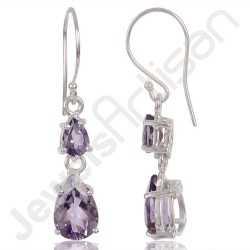 Amethyst Earring 925 Sterling Silver Earring Dangle Drop Earring Amethyst Gemstone Earring