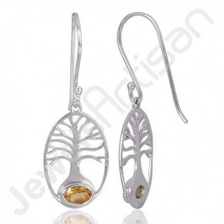 Citrine Earrings 925 Sterling Silver Earring Ear Wired Earring Unique Designer Earring