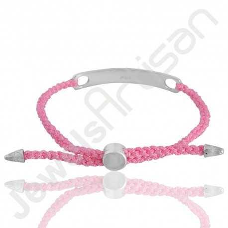 Pink glass Bracelet 925 Sterling Silver Bracelet Cord Bracelet Stylish Best Friend Bracelet