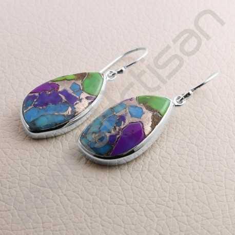 Turquoise Earring 925 Sterling Silver Earring Dangle Drop Designer Earrings for women