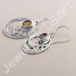 Natural Citrine Earring 925 Sterling Silver Earring Dangle Drop Earring Citrine Oval Gemstone 5x7mm Handmade Designer Earring