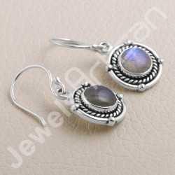 Labradorite Earrings 925 Sterling Silver Earring Handcrafted Earring 8x8mm Round Gemstone Designer Ear Wired Earring