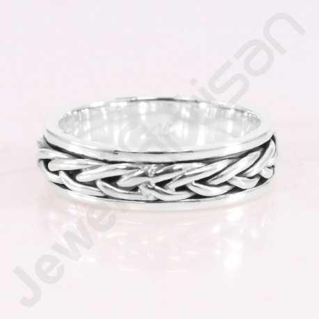925 Sterling Silver Ring Spinner Ring Handmade Silver Ring Meditation Ring Thumb Ring Anxiety Ring Fashionable Ring