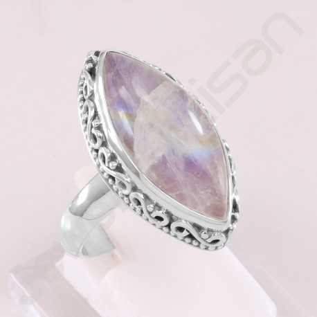Cocktail Ring Rainbow Moonstone Ring 925 Sterling Silver Ring Marquise Fancy Gemstone Handcrafted Silver Ring