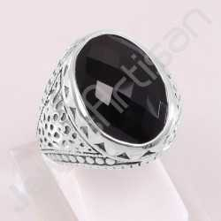 Black Onyx Ring 925 Sterling Silver Ring Classic Solitaire Ring Oval 13x18mm Black Onyx Gemstone Handmade Silver Designer Ring