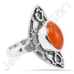 Natural Carnelian Ring 925 Sterling Silver Ring Handcrafted Ring Oval 10x14mm Carnelian Gemstone Solitaire Statement Silver Ring