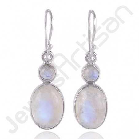 Rainbow Moonstone Earring 925 Sterling Silver Earring Dangle Drop Earring