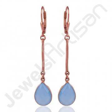 Blue Onyx Earring 925...