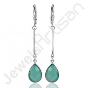 Green Onyx Earrings 925...