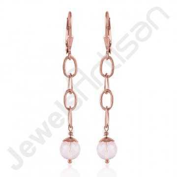 Rose Quartz Earring 925...