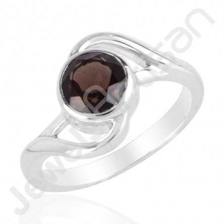 Smokey Quartz Ring 925 Sterling Silver Ring Handmade Silver Ring